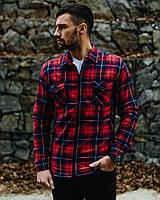 Мужская рубашка на овчине.