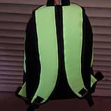 Рюкзак молодежный Nike, Найк черный с салатовым, фото 3