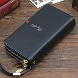 Мужское портмоне Deyabier - клатч на запястье, черное, фото 2