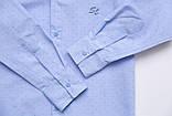 Сорочка для хлопчика SmileTime з довгим рукавом на кнопках Points, блакитна, фото 3