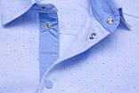 Сорочка для хлопчика SmileTime з довгим рукавом на кнопках Points, блакитна, фото 4