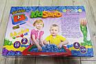 Кинетический песок с песочницей KidSand Danko Toys 7450DT Коробка 1600г., фото 3