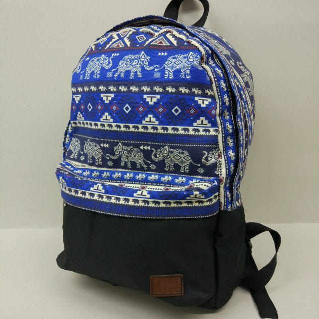 Рюкзак молодежный со слонами UKsport, черный с синим