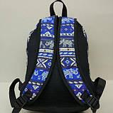 Рюкзак молодежный со слонами UKsport, черный с синим, фото 3