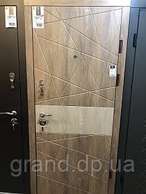 Двери Магда Модель 604 Тип 2 дуб песочный-дуб янтарный комбинированный