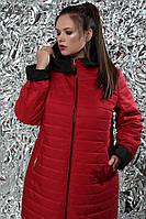 """Куртка женская демисезонная двухсторонняя с капюшоном в пяти цветах 54-70 размер """"768"""""""