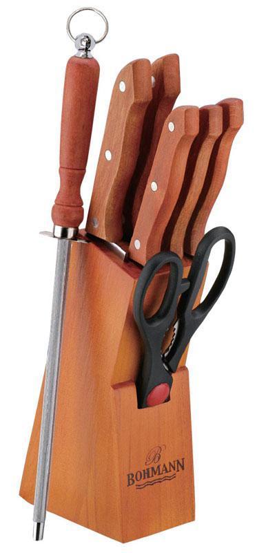 Набір кухонних ножів 8 предметів BOHMANN BH-5103-WD