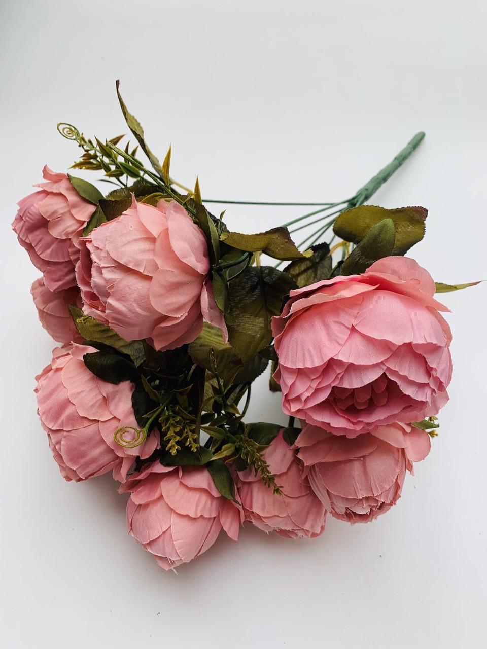 Искусственный букет пионов для декора( розовый)