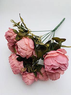Искусственный букет пионов для декора( розовый), фото 2