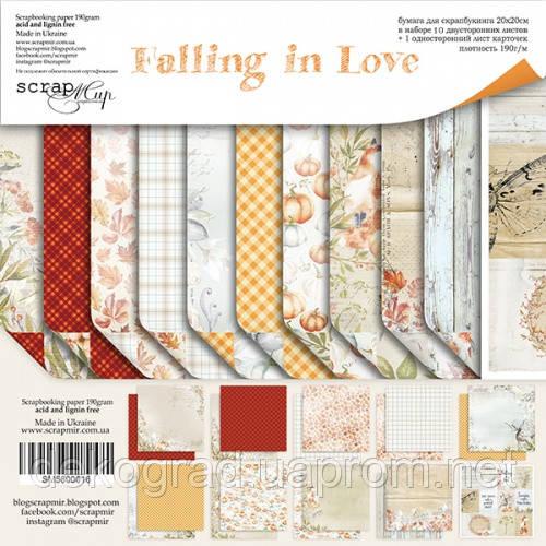 Набор двусторонней бумаги 20х20см от Scrapmir Falling in Love