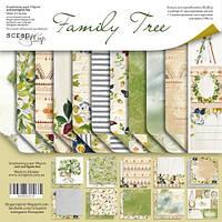 Набор двусторонней бумаги 20х20см от Scrapmir Family Tree