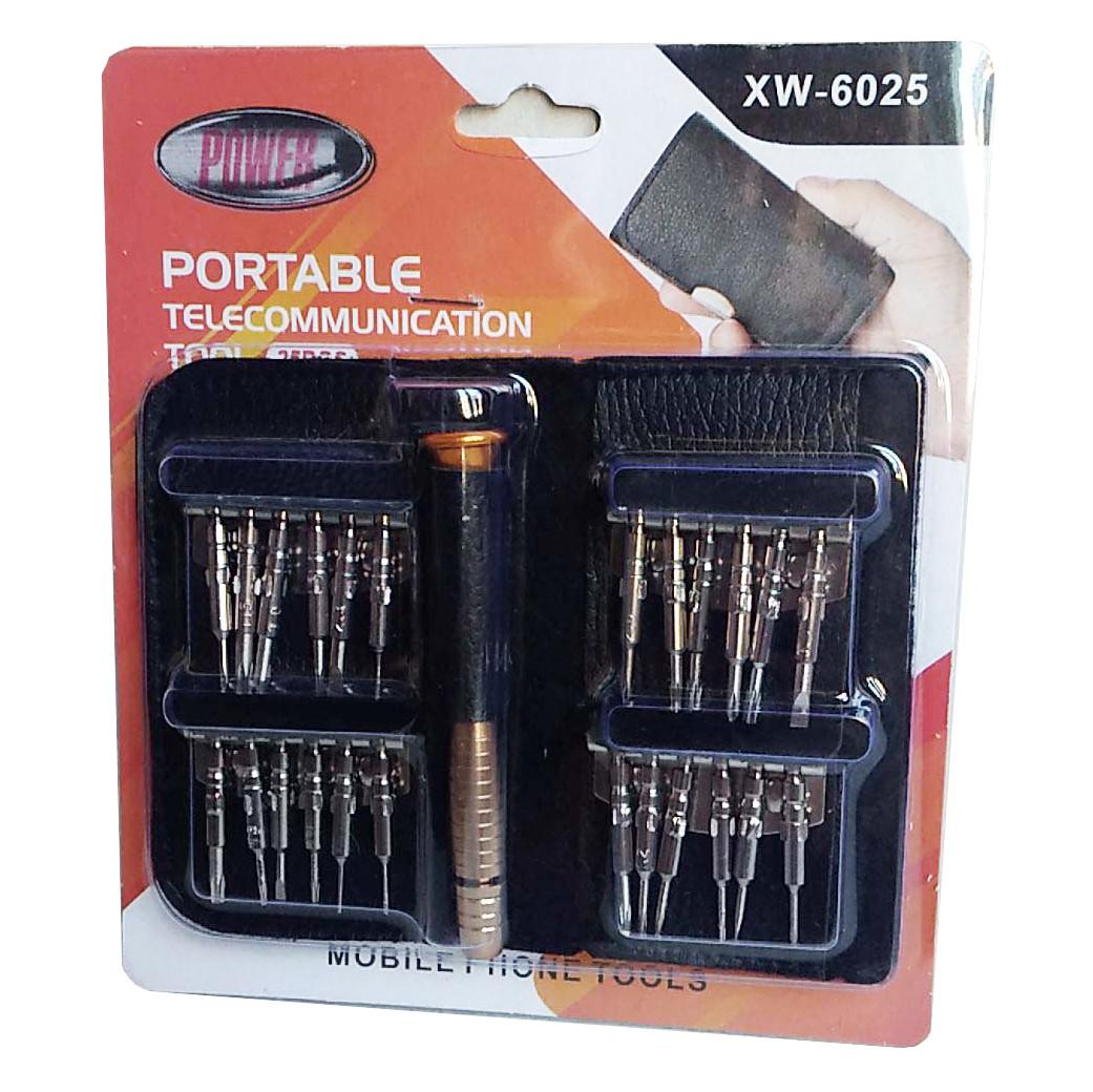 Набір викруток XW-6025 для електроніки в чохлі, кишеньковий (25 1)