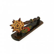 Булава деревянная сувенир на подставке