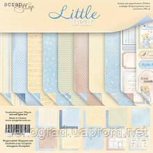 Набор двусторонней бумаги 20х20см от Scrapmir Little Bear