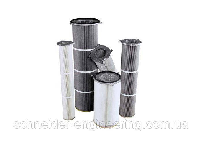 Фільтруючі картриджі для використання в обладнанні пылеулавливающем