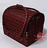 Сумка-чемодан для мастера маникюра/парикмахера/визажиста, чёрный с красным принтом