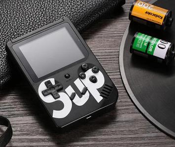 Портативная игровая приставка + джойстик 8bit 400 игр SUP Game Box black, фото 2