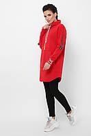 Красное худи, спортивное женское платье