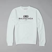 "Толстовка Свитшот  BALLINCIAGA Баленсиага   (белый) """" В стиле Balenciaga """" Реглан"