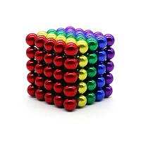 Неокуб (NeoCube) в боксе 125 шариков цветной (радуга)  / магнитный конструктор шарики