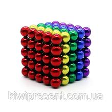 Неокуб NeoCube в боксе 125 шариков цветной радуга   магнитный конструктор шарики