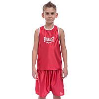 Форма для боксу дитяча ELAST (р-р S-XL на зростання від 125 до 165 см, червоний)