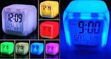 Электронные настольные светящиеся часы-хамелеон CX 508, белый цвет, фото 4