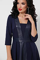 Женское платье с кожаными вставками, фото 1