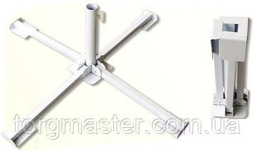 Подставка металлическая КРЕСТОВИНА для зонтов торговых, садовых, уличных