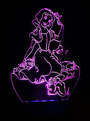 Съемная пластина с рисунком к ночнику, Белоснежка, принцесса Дисней