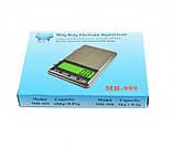Весы карманные ювелирные MH999 (0,1-3000) с LCD дисплеем и высокоточными датчиками Ming Heng, фото 3