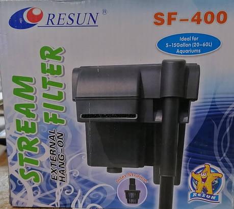 Resun SF-400 - навісний фільтр для акваріума до 80 л, фото 2