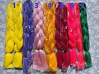 Канекалон цветные косы пряди разноцветные волосы для плетения низкая цена