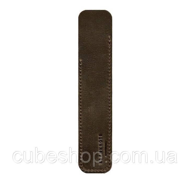 Кожаный чехол для ручек 2.0 (темно-коричневый)