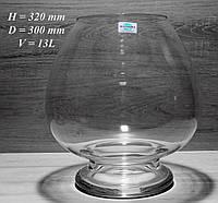 Стеклянная Ваза Бокал 13л D = 300мм H = 320мм