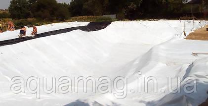 Геотекстиль ЛавсанГео (Беларусь) 100 г/м2 (полотно нетканое, полиэфирное, иглопробное для дренажа, пруда), фото 3