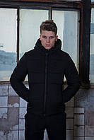 Куртка мужская зимняя черная Intruder Glacier + Фирменный Бафф в подарок