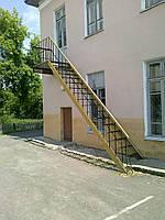 Однопролётная Пожарная Лестница №2 наружная