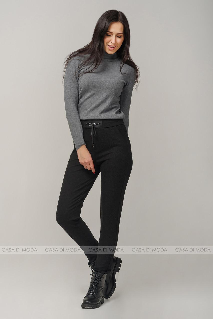 Женские брюки темно серого цвета , больших размеров