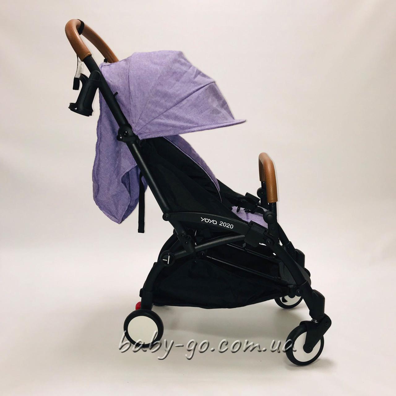 Коляска фиолетовая лён Yoya 2020 175 A+