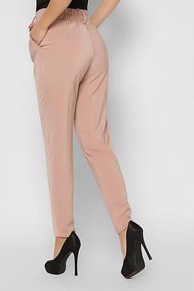 Деловые женские брюки зауженные бежевые, фото 3