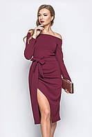 S, M, L / Вечірнє жіноче марсалове плаття