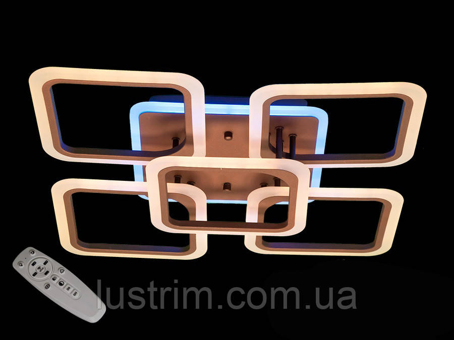 Светодиодная LED люстра с димером и цветной подсветкой 125W