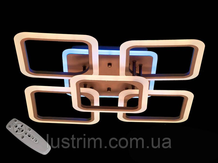 Світлодіодна LED люстра з димером і кольоровою підсвіткою 125W