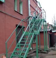 Однопролётная Пожарная Лестница №5 наружная