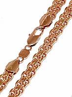 Цепочка Xuping № 016. Плетение Бисмарк. Золото (розовое покрытие)  50 см х 5 мм