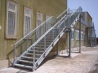 Однопролётная Пожарная Лестница №6 наружная