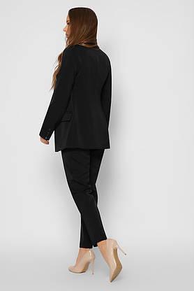 Деловые женские брюки зауженные черные, фото 3