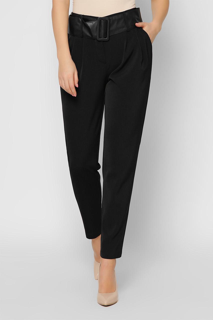 Деловые женские брюки зауженные черные