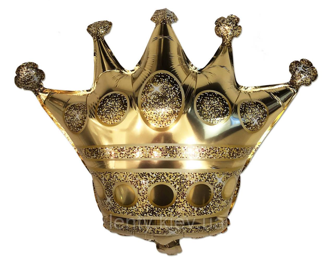 """Шар фигура """"Корона золотая"""" 90 см Золото фольга"""